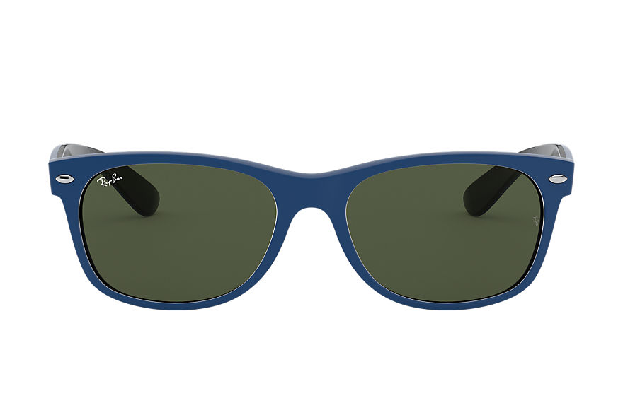 Ray-Ban  oculos de sol RB2132 UNISEX 001 new wayfarer color mix azul mate 8056597140072