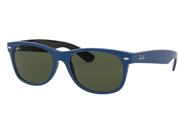 Ray-Ban Sunglasses NEW WAYFARER COLOR MIX Matte Blue with Green Classic G-15 lens