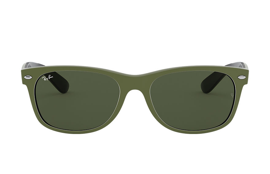 Ray-Ban  lunettes de soleil RB2132 UNISEX 001 new wayfarer color mix matte green 8056597140140