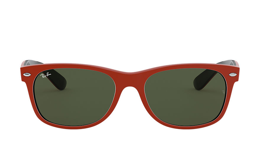 Ray-Ban  lunettes de soleil RB2132 UNISEX 001 new wayfarer color mix matte red 8056597140171