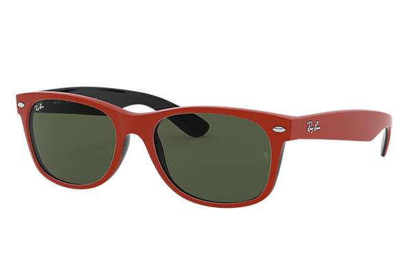Ray-Ban 0RB2132-NEW WAYFARER COLOR MIX Red,Black SUN