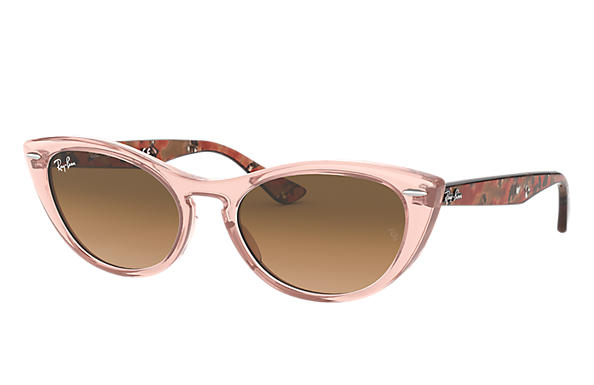 Ray-Ban Sunglasses NINA Transparent Pink with Pink/Brown Gradient lens