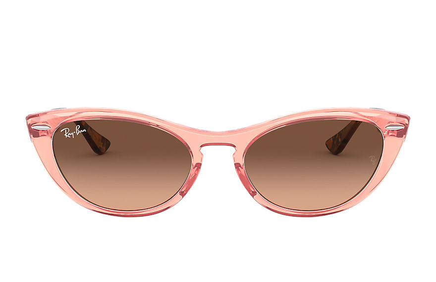 Ray-Ban  sunglasses RB4314N FEMALE 001 nina transparent pink 8056597140409