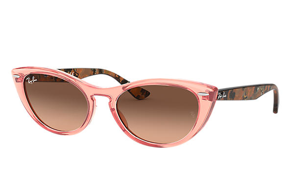 Ray-Ban 0RB4314N-NINA Transparent Pink,Pink; Brown Havana,Tortoise SUN