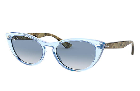 Ray-Ban 0RB4314N-NINA Transparent Blue,Light Blue; Green Havana,Tortoise SUN
