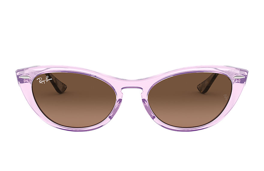 Ray-Ban  sunglasses RB4314N FEMALE 001 nina transparent violet 8056597140423