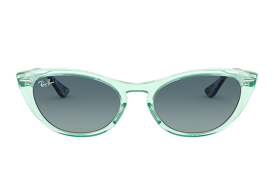 Ray-Ban  sunglasses RB4314N FEMALE 001 nina tranparent green 8056597140430