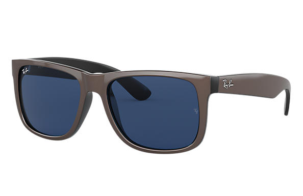 Ray-Ban Sunglasses JUSTIN COLOR MIX Brown with Dark Blue Classic lens