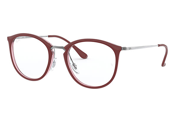 Ray-Ban 0RX7140-RB7140 Bordeaux,Transparent; Gunmetal OPTICAL