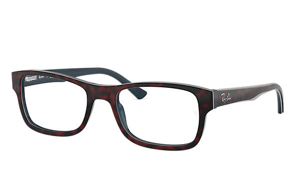 Ray-Ban 0RX5268-RB5268 Red Havana,Blue OPTICAL