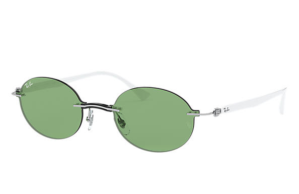 Ray-Ban Sunglasses RB8060 Silver with Green Legend lens
