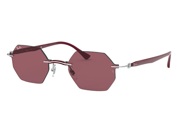 Ray-Ban 0RB8061-RB8061 Argento; Bordeaux SUN