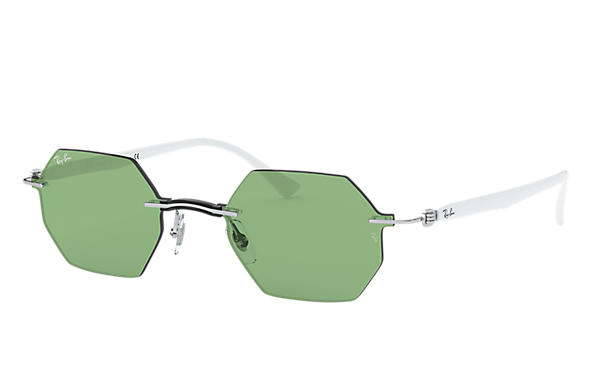 Ray-Ban Sunglasses RB8061 Silver with Green Legend lens