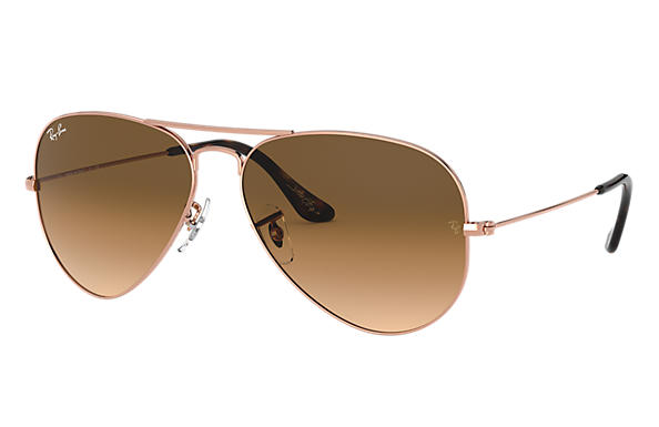 Ray-Ban Sunglasses AVIATOR TEAM WANG X RAY-BAN Bronze-Copper with Light Brown Gradient lens