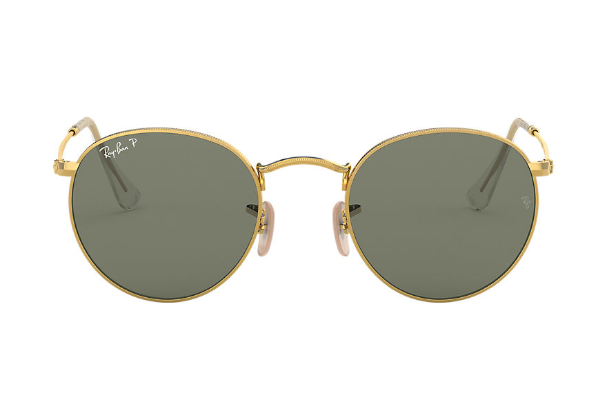 Ray-Ban  sunglasses RB3447 UNISEX 009 round metal gold 8056597142441