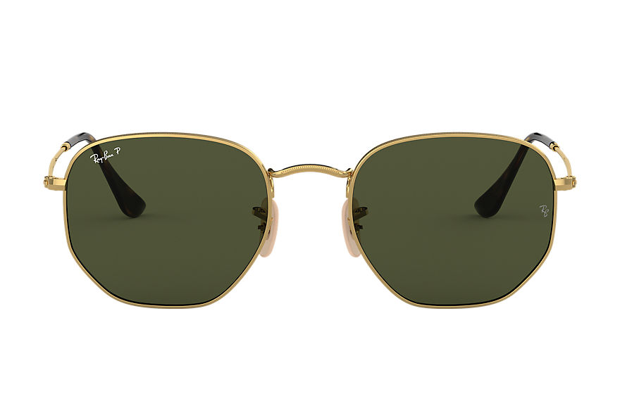 Ray-Ban  sunglasses RB3548N UNISEX 001 hexagonal flat lenses 金色 8056597142496