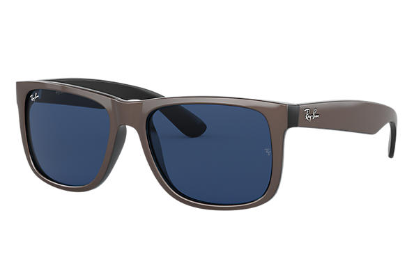 Ray-Ban Sunglasses JUSTIN COLOR MIX LOW BRIDGE FIT Brown with Dark Blue Classic lens