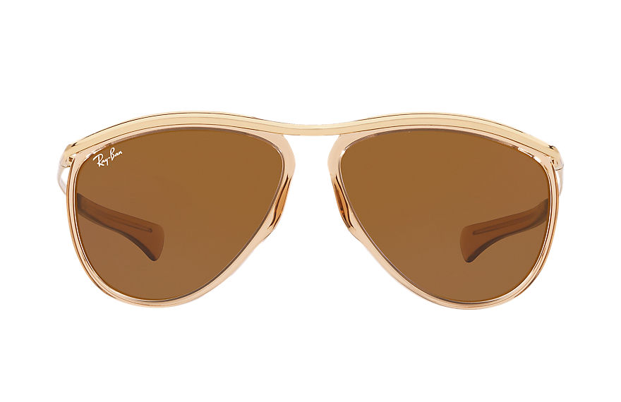 Ray-Ban AVIATOR OLYMPIAN RELOADED Light Bronze avec verres Marron Classique B-15