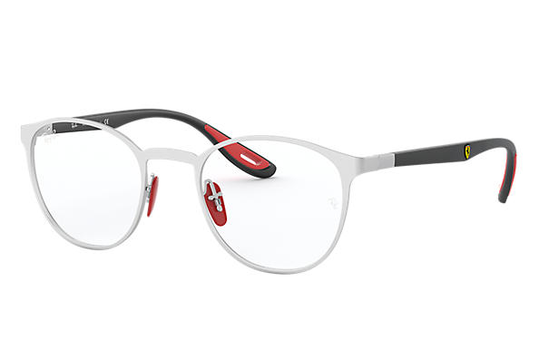 Ray-Ban 0RX6355M-RB6355M SCUDERIA FERRARI COLLECTION Argent opaque,Argent; Noir OPTICAL