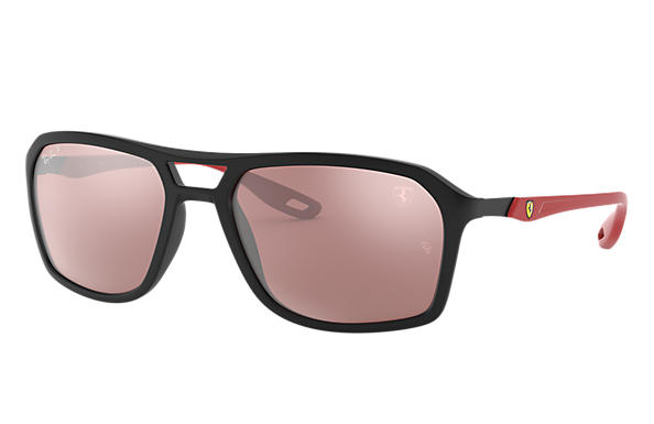 Ray-Ban Sonnenbrillen RB4329M SCUDERIA FERRARI COLLECTION Matte Black mit Silver Mirror Chromance Gläsern