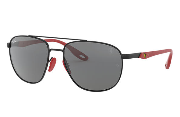 Ray-Ban 0RB3659M-RB3659M SCUDERIA FERRARI COLLECTION Matte Black,Black SUN