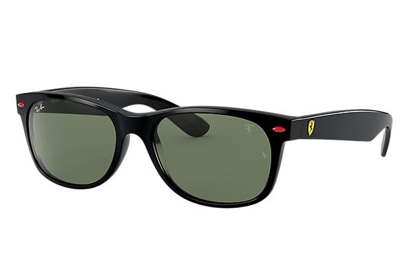 Ray-Ban Sunglasses RB2132M SCUDERIA FERRARI COLLECTION Black with Green Classic G-15 lens