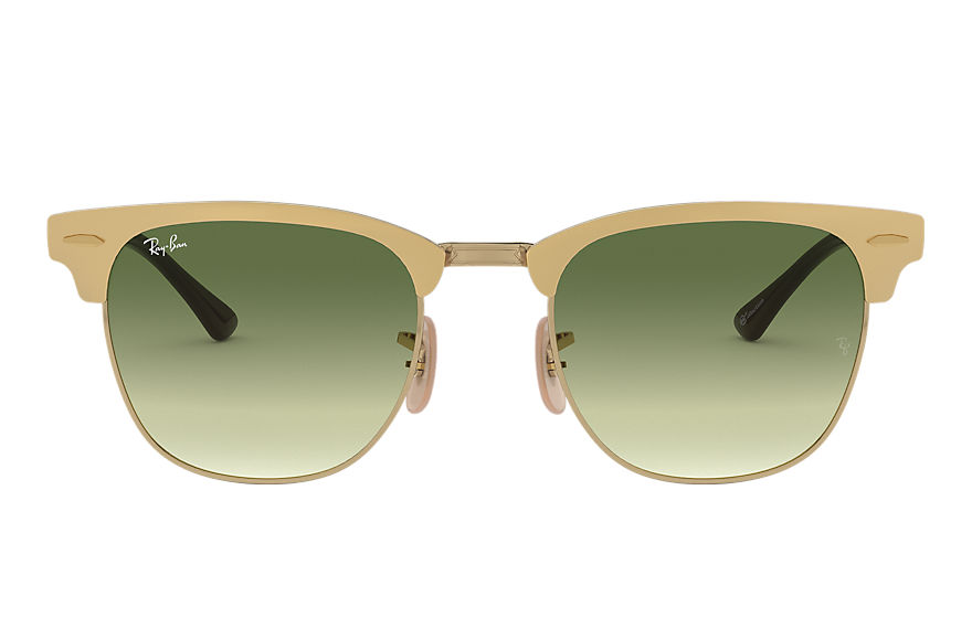 Ray-Ban Sunglasses Clubmaster Metal @Collection Gold with Green Gradient lens