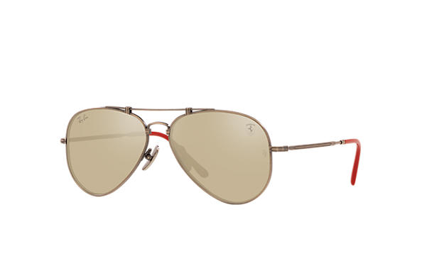 Ray-Ban Sunglasses RB8125M SCUDERIA FERRARI MONZA LIMITED EDITION Gunmetal with White Gold Mirror lens