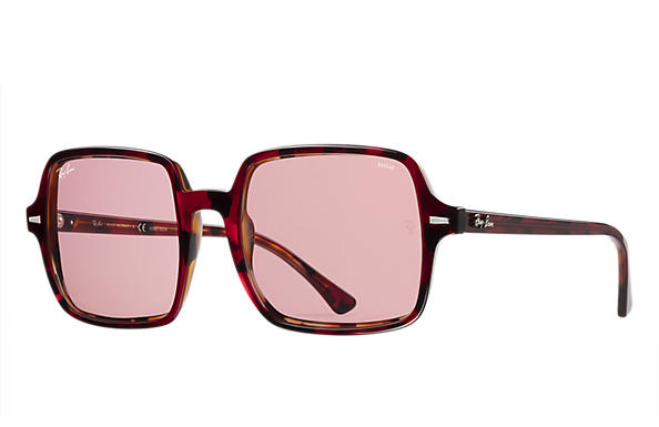 Ray-Ban 0RB1973-SQUARE 1973 HD70 Rouge Havana,Havane SUN