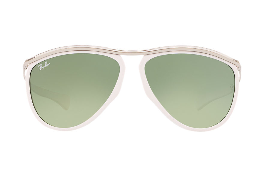 Ray-Ban Gafas-de-sol RB2219_Aviator_Olympian_by_Honey_Dijon Blanco con lente Verde Degradada