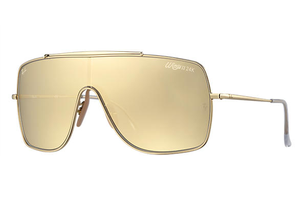 Ray-Ban 0RB3697K-WINGS II HD80 Gold SUN