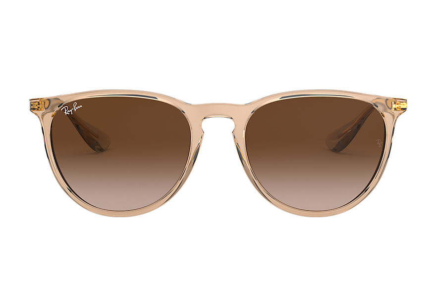 Ray-Ban Sunglasses ERIKA EXCLUSIVE Transparent Brown with Brown Gradient lens
