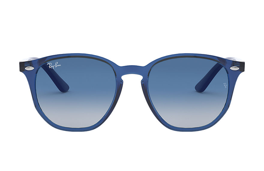 Ray-Ban Sunglasses RJ9070S Transparent Blue with Blue Gradient lens