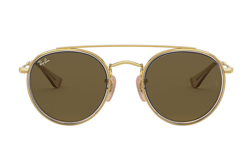 Ray-Ban  occhiali da sole RJ9647S CHILD 002 round double bridge junior oro 8056597175227