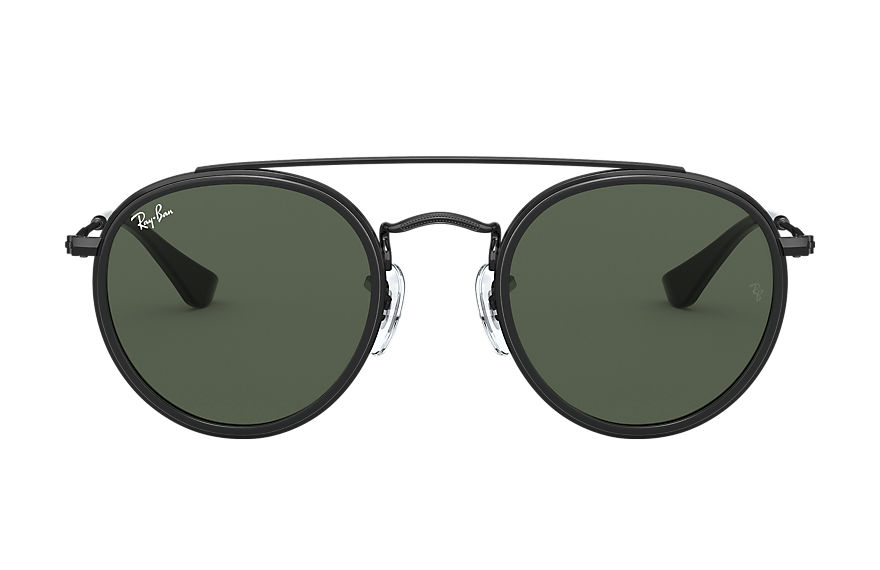 Ray-Ban  occhiali da sole RJ9647S CHILD 002 round double bridge junior nero 8056597175234