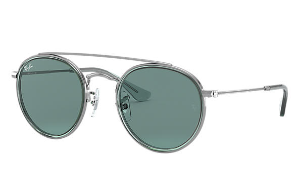 Ray-Ban Occhiali-da-sole ROUND DOUBLE BRIDGE JUNIOR Canna di fucile con lente Verde Classica