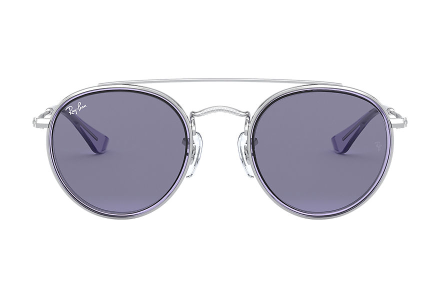 Ray-Ban  occhiali da sole RJ9647S CHILD 002 round double bridge junior argento 8056597175272