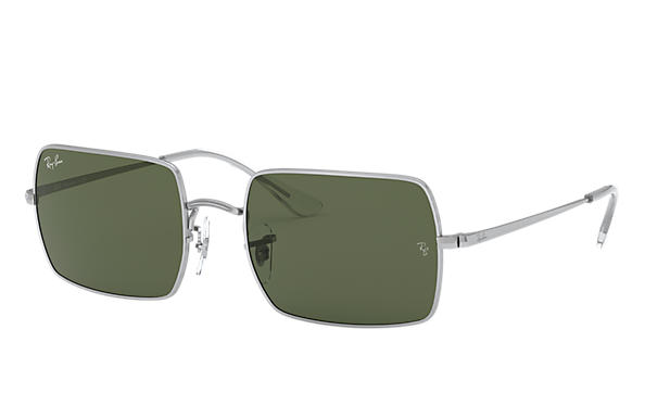 Ray-Ban Sonnenbrillen RECTANGLE 1969 Silver mit Light Blue Gradient Gläsern