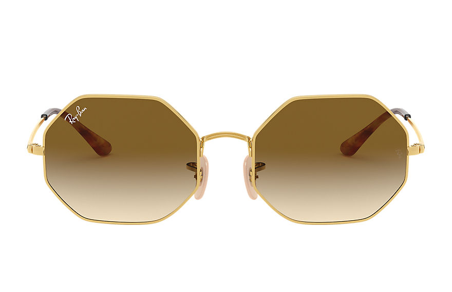 Ray-Ban Sunglasses OCTAGON 1972 Gold with Light Brown Gradient lens