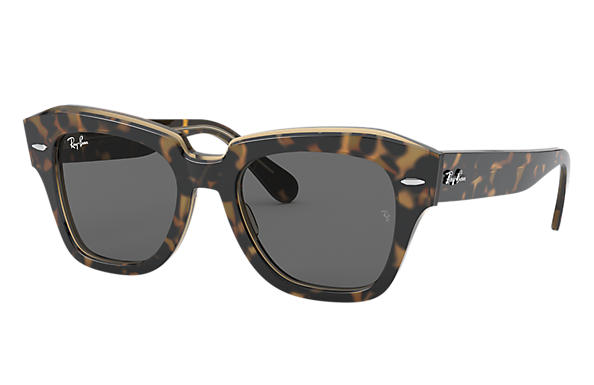 Ray-Ban Sunglasses STATE STREET Tortoise with Dark Grey Classic lens