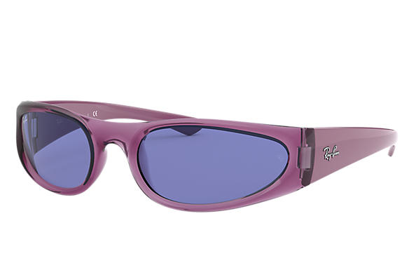 Ray-Ban Sunglasses RB4332 Transparent Violet with Blue Classic lens