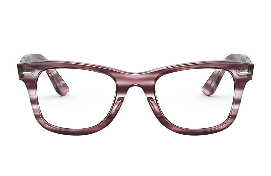 Ray-Ban  eyeglasses RX4340V UNISEX 003 wayfarer ease optics striped bordeaux havana 8056597187411