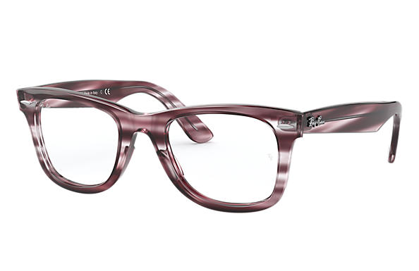 Ray-Ban 0RX4340V-WAYFARER EASE OPTICS Havana rayé bordeaux; Havana rayé bordeaux,Bordeaux OPTICAL