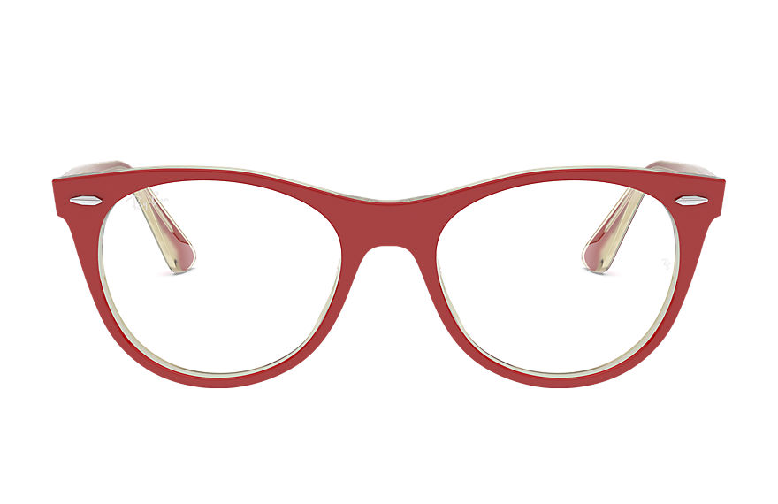 Ray-Ban  occhiali da vista RX2185V UNISEX 005 wayfarer ii optics red 8056597187596