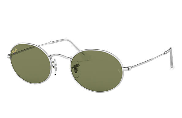 Ray-Ban 0RB3547-OVAL LEGEND GOLD Silver SUN