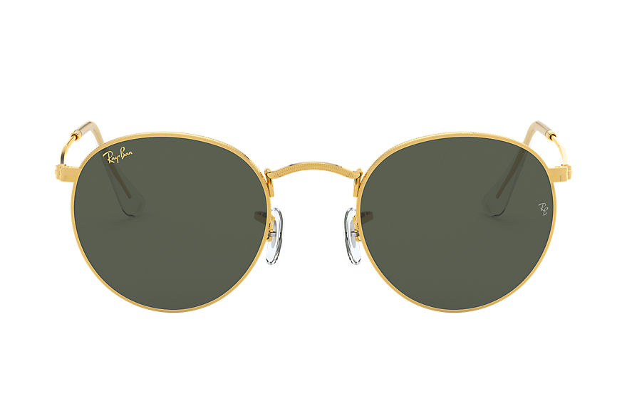 Ray-Ban  oculos de sol RB3447 MALE 012 round metal legend gold ouro 8056597197496