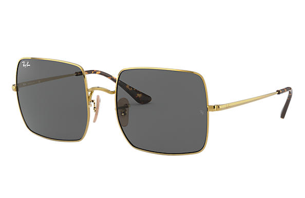 Ray-Ban		 Sunglasses Square 1971 Classic Gold met brillenglas ダークグレー Classic