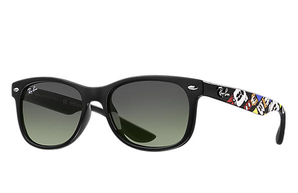 Ray-Ban Sunglasses RJ9052S LTD Ray-Ban x Disney Black with Green/Dark Grey Gradient lens