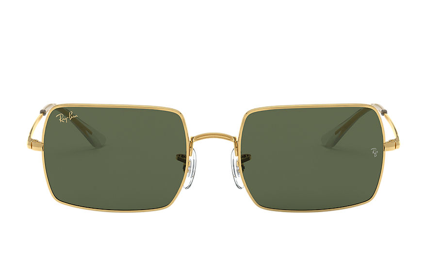 Ray-Ban Sunglasses RECTANGLE 1969 LEGEND GOLD Gold with Green Classic G-15 lens