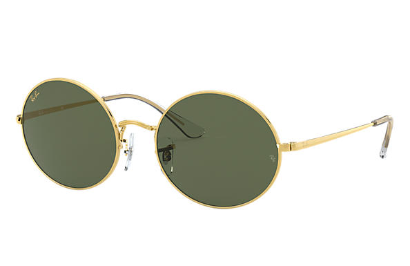 Ray-Ban Sunglasses OVAL 1970 LEGEND GOLD Gold with Green Classic G-15 lens